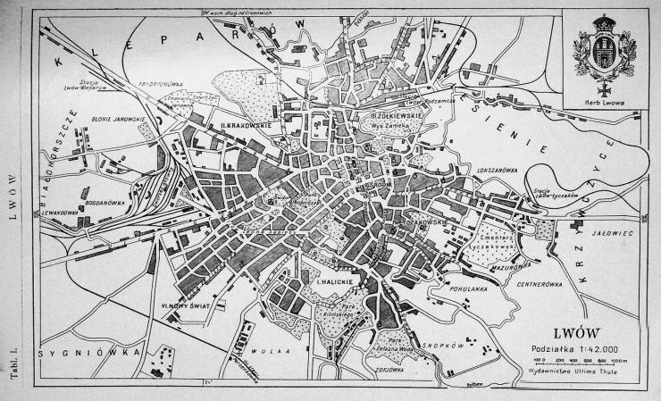 historia Lwowa plan miasta
