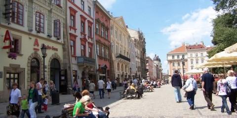 Ukraina lwów rynek - wycieczka
